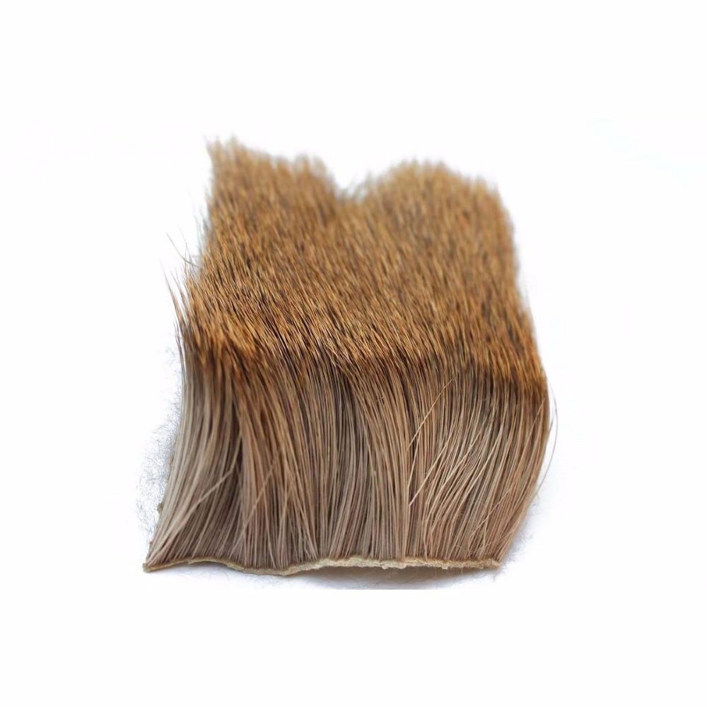 Tigofly 2 Adet / grup Elk Vücut Saç Uzun Kalın Kürk 6 cm X 6 cm Kuru Sinekler Muddlers Sinek Balıkçılık Bağlama Malzemeleri