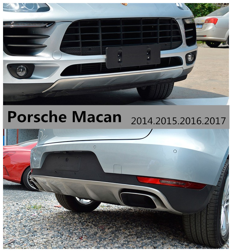 For Porsche Macan 2014.2015.2016.2017 BUMPER GUARD Car BUMPER Plate High Quality Stainless Steel Front+Rear Auto Accessories