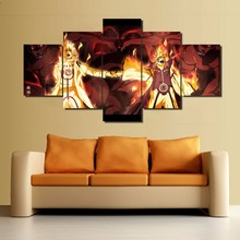 Naruto 5 Panels Canvas Art