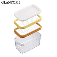 Butter Cheese Cutter Box Case Slicers Knife Butter Cutter Stainless Steel ABS Dough Plane Grater Slicing Cheese Board Sets Tool