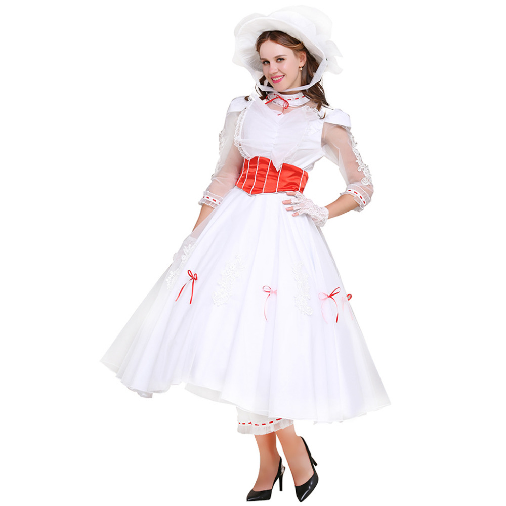 Aliexpress Buy Mary Poppins Costume Dress Wedding Suit Adult Womens Halloween Carnival Cosplay From Reliable