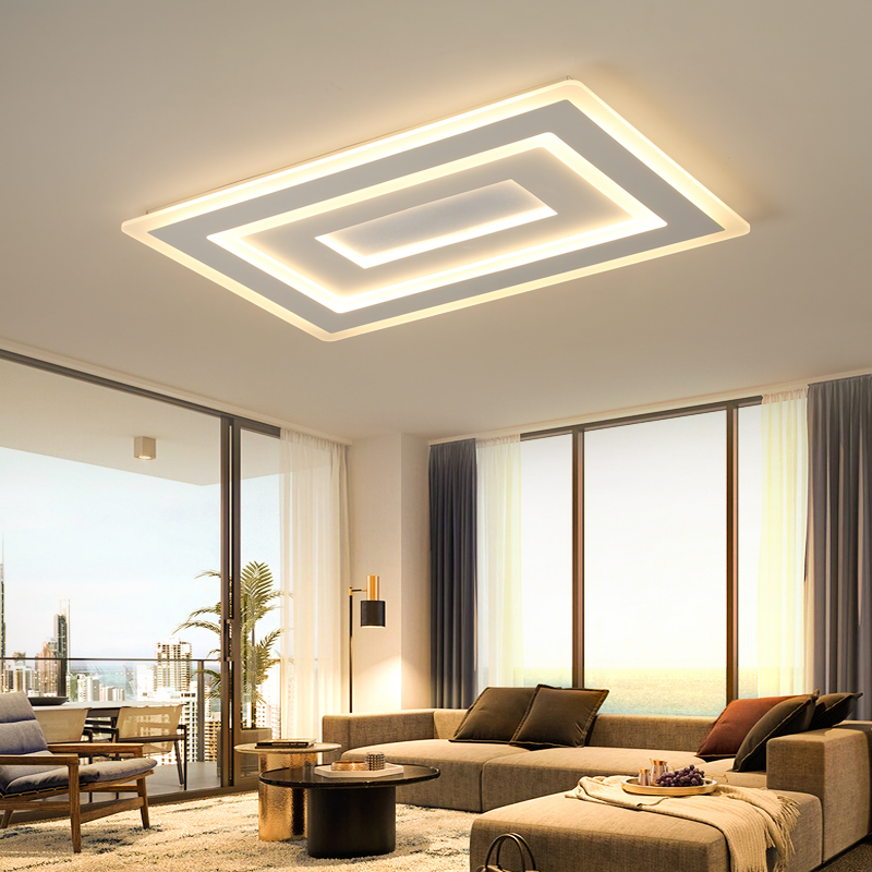 Surface mounted Rectangle Modern led ceiling chandelier living room dining room bedroom Ultra-thin ceiling chandelier fixturesSurface mounted Rectangle Modern led ceiling chandelier living room dining room bedroom Ultra-thin ceiling chandelier fixtures