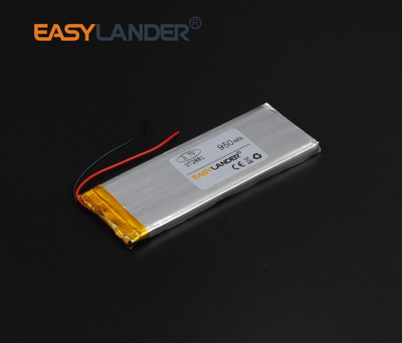 3.7x28x81mm 3.7V 950mAh Polymer Li-ion Battery For bluetooth headset Bracelet Wrist Watch pen PDA MP3 Game Player mouse 372881