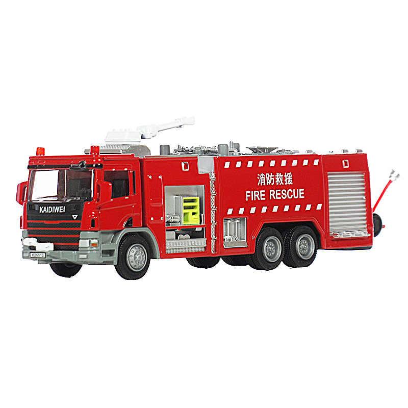 KAIDIWEI 1:50 Api Penyelamatan Mesin Api Air Tank Model Mobil Mainan Untuk Anak-anak
