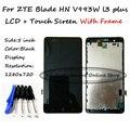 LCD + TP + Рамка + Инструменты Для ZTE Blade HN V993W l3 плюс ЖК-Дисплей с Дигитайзер Сенсорным Экраном Смартфон замена Отслеживание Заказа