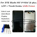 LCD+TP+Frame+ Tools For ZTE Blade HN V993W l3 plus LCD Display with Touch Screen Digitizer Smartphone Replacement Order Tracking
