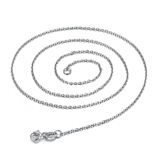 S925 Sterling Silver Plated Platinum chain chain O chain link chain