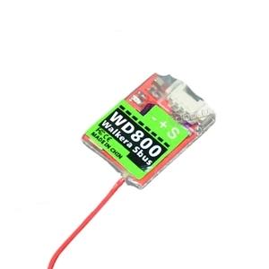 WD800 Walkera Sbus/PPM Receptor Indicador LED Compatível com Transmissor Devo