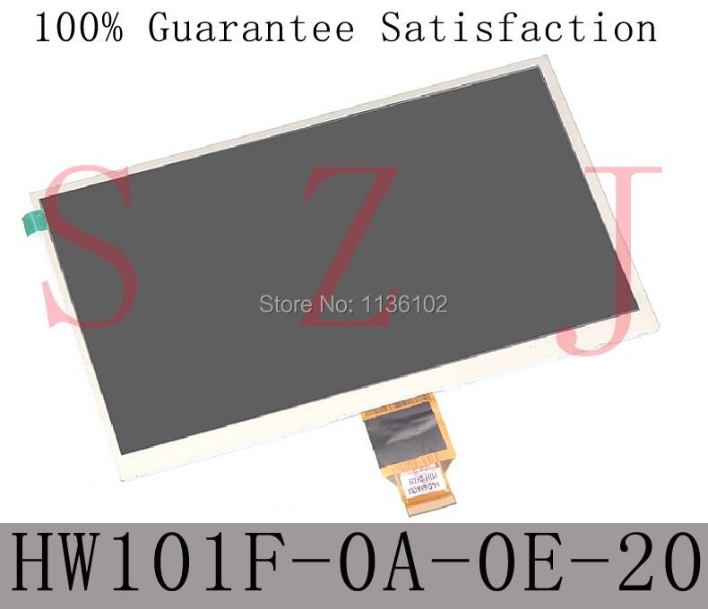 ФОТО HW101F-0A-0E-10 HW101F-0A-0E-20 HW101F 10.1 inch TFT LCD Display Screen 1024*600 for ALLWINNER A10 A13 tablet pc 5Pcs/lot