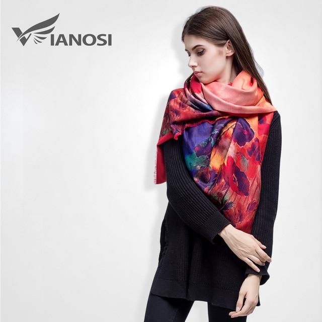 [VIANOSI] Brand Floral Scarf Women Bufandas Warm Cashmere Winter Shawls and Scarves VS036