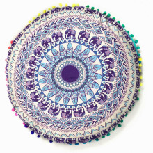Colorful round 43CM Indian Mandala Floor Pillows Round Bohemian Cushion Cushions Pillows Cover Case Home textile ornament sale