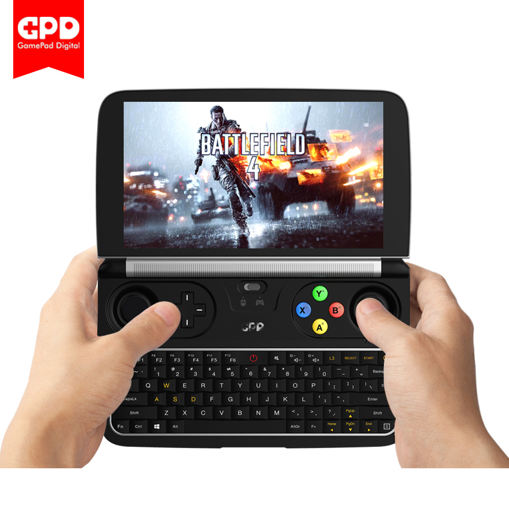 New GPD GANHAR 2 WIN2 6 Polegada Handheld Gaming Laptop Intel Core m3-7Y30 Sistema Windows 10 8 gb RAM 128 gb ROM Bolso Mini Laptop PC