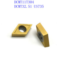 us735 כלי קרביד כלי 20PCS DCMT11T304 / DCMT32.51 VP15TF / UE6020 / US735 קרביד להב פנימי מפנה מחרטה כלי CNC גַיֶצֶת כלי (1)