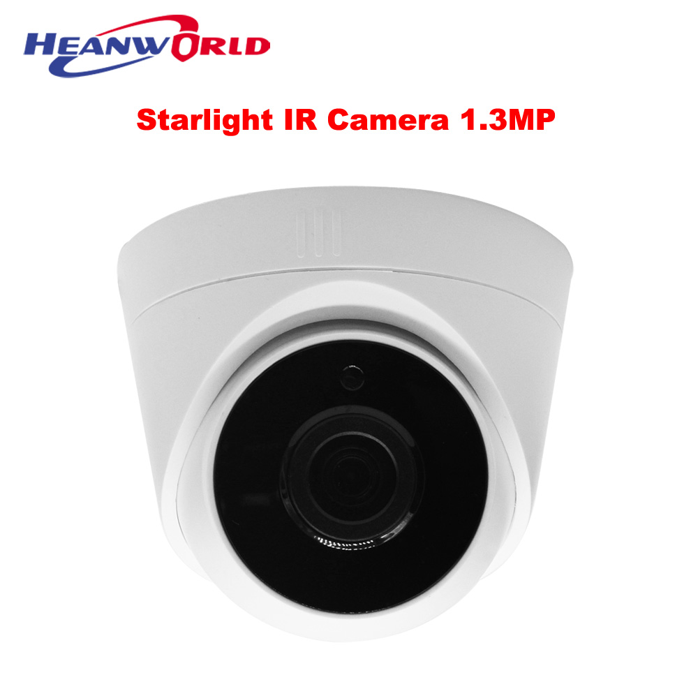 Starlight IP Camera ONVIF HD Night Vision Dome Camera IP Cam CCTV Home Security 1.3 mp 960P Cameras P2P SONY low Illumination hd cctv starlight low illumination 1 3mp 960p network ip camera day night vision ir color h 264 p2p onvif hisilicon