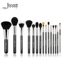 Jessup Pro 15 stücke Make-Up Pinsel Set Schwarz/Silber Kosmetik bilden Powder Foundation Lidschatten Eyeliner Lip Pinsel Werkzeug schönheit