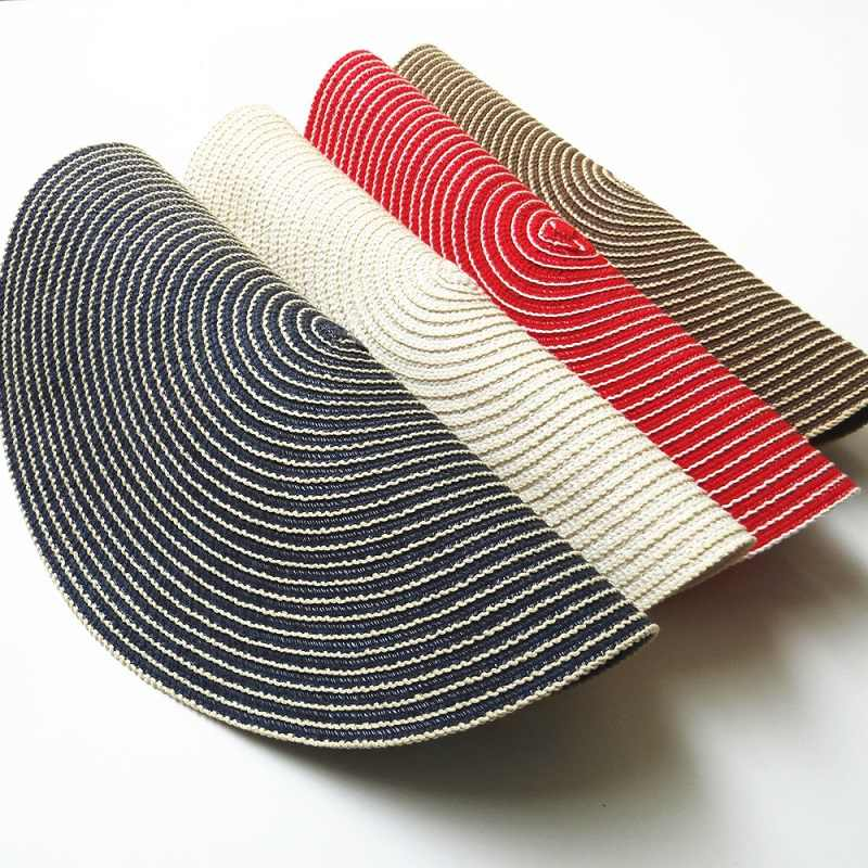 Красочные хлопчатобумажные плетеные подставки для кружек Посуда коврик теплоизолированный стол коврик горшок блюдо чаша тарелка чашка коврик кухонный бар аксессуар