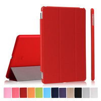 For Ipad Air Pu Leather Case With Matte Transparent Cover For Ipad 5 9inch Wake Up