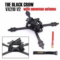 الطيور السوداء VX210 v2 210 ملليمتر 5 ملليمتر الذراع ثلج هوائي الكربون الألياف تمتد x 210 ملليمتر مصغرة الإطار كيت سباق drone quadcopter fpv