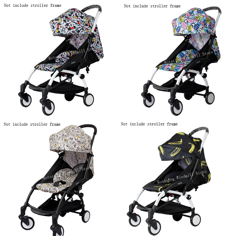 Image 5 - Stroller Hood & Mattress For 175 Yoya Baby Throne Oxford Cloth Back With Mesh Pockets Yoya Stroller Accessories Cushion For Yoyo-in Strollers Accessories from Mother & Kids