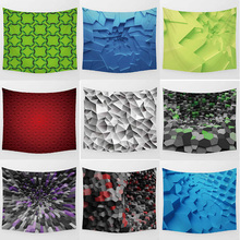 Hot sale fashion Green geometric shape wall hanging tapestry home decoration tapiz pared L  200*150cm M 150*130cm
