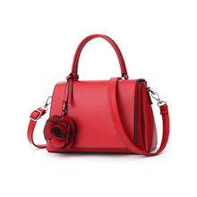 Women Casual  Flower Tote Bag Female Stylish Shoulder Messenger Bags PU Leather Handbag Ladies Leisure Shopping Bag
