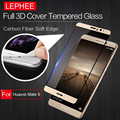 LEPHEE HUAWEI MATE 9 3D Curved Tempered Glass Screen Protector Full Carbon Fiber Soft Edge (No Edge Broken Film for HUAWEI MATE9
