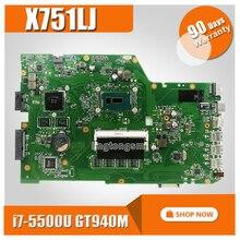X751LB материнская плата для ноутбука Asus X751L K751L K751LN X751LB X751LD X751LJ материнская плата Тесты ок I7-5500U Процессор GT940M 4 Гб Оперативная память