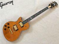 Electric guitar/left hand guitar/Gwarem lp custom/yellow color/guitar in china