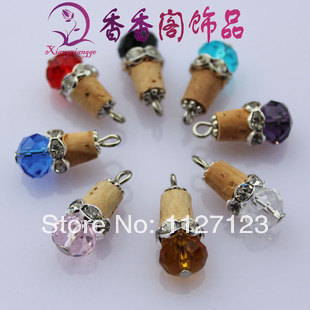 15pcs 4-5MM Hand- Beaded Corks With Hook,Corks For Wishing Bottle Jewelry,jewelry stoppers/accessories