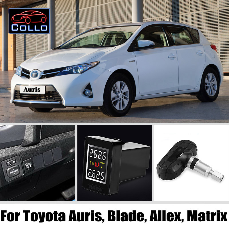 TPMS For TOYOTA Auris Blade Allex Matrix / Wireless Tire Pressure Monitoring System Of Internal Sensors Embedded Install
