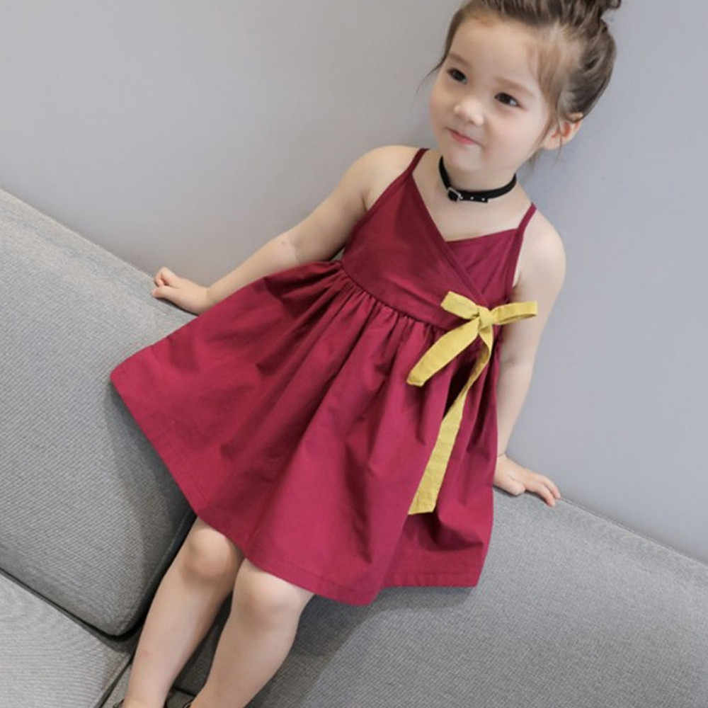Toddler Girls Summer Princess Kids Baby Party Wedding Sleeveless Dress vestidos de bebe para fiestas Summer Clothes Kids Girl