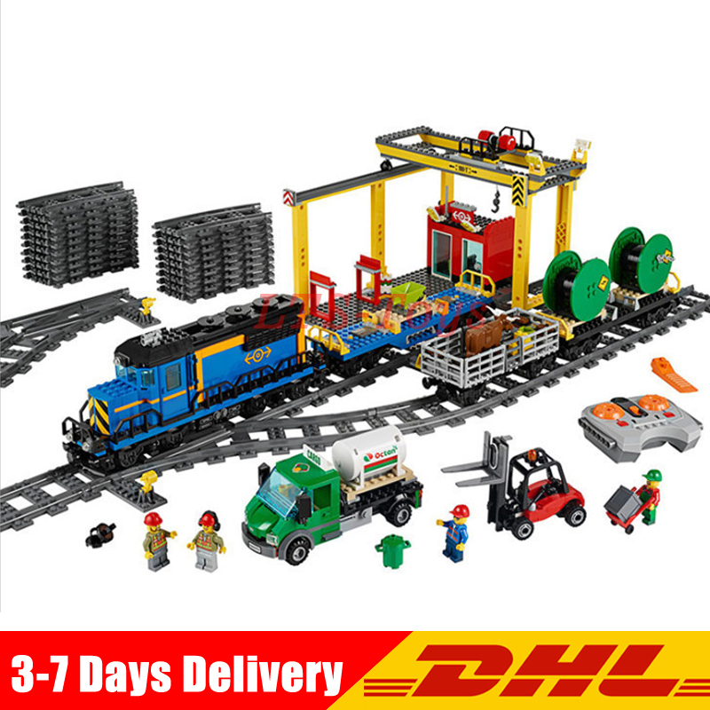 In Stock DHL Lepin 02008 959Pcs City Series The Legoinglys 60052 Remote Control Train Set Building Blocks Bricks Kid Toys Gifts lepin 02008 959pcs city series the cargo train set legoinglys 60052 model rc building blocks bricks toys for children gifts