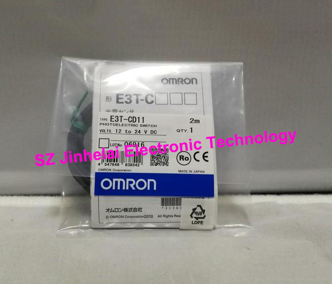 E3T-CD11 New and original OMRON Photoelectric sensor Photoelectric Switch 12-24VDC 2M dhl ems 10 sets for omron photoelectric switch sensor e3jk 5m2 e3jk5m2 new in box free shipping