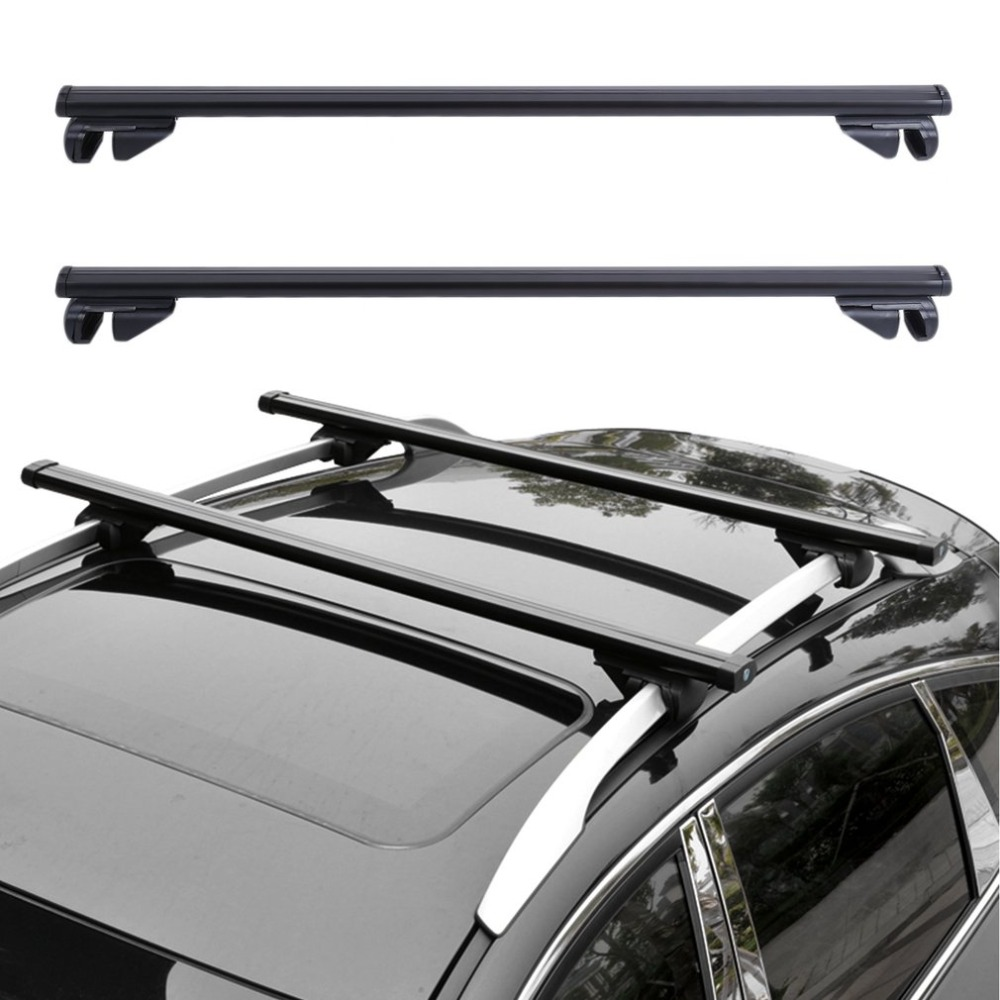 Universal Car Roof Rack Cross Bars Vehicle Cargo Luggage Carrier Auto Roof Rails With Anti-theft Lock Easy Fit 124CM partol 110cm universal car roof rack cross bars crossbars with anti theft 68 kg 150lbs aluminum cargo luggage top carrier