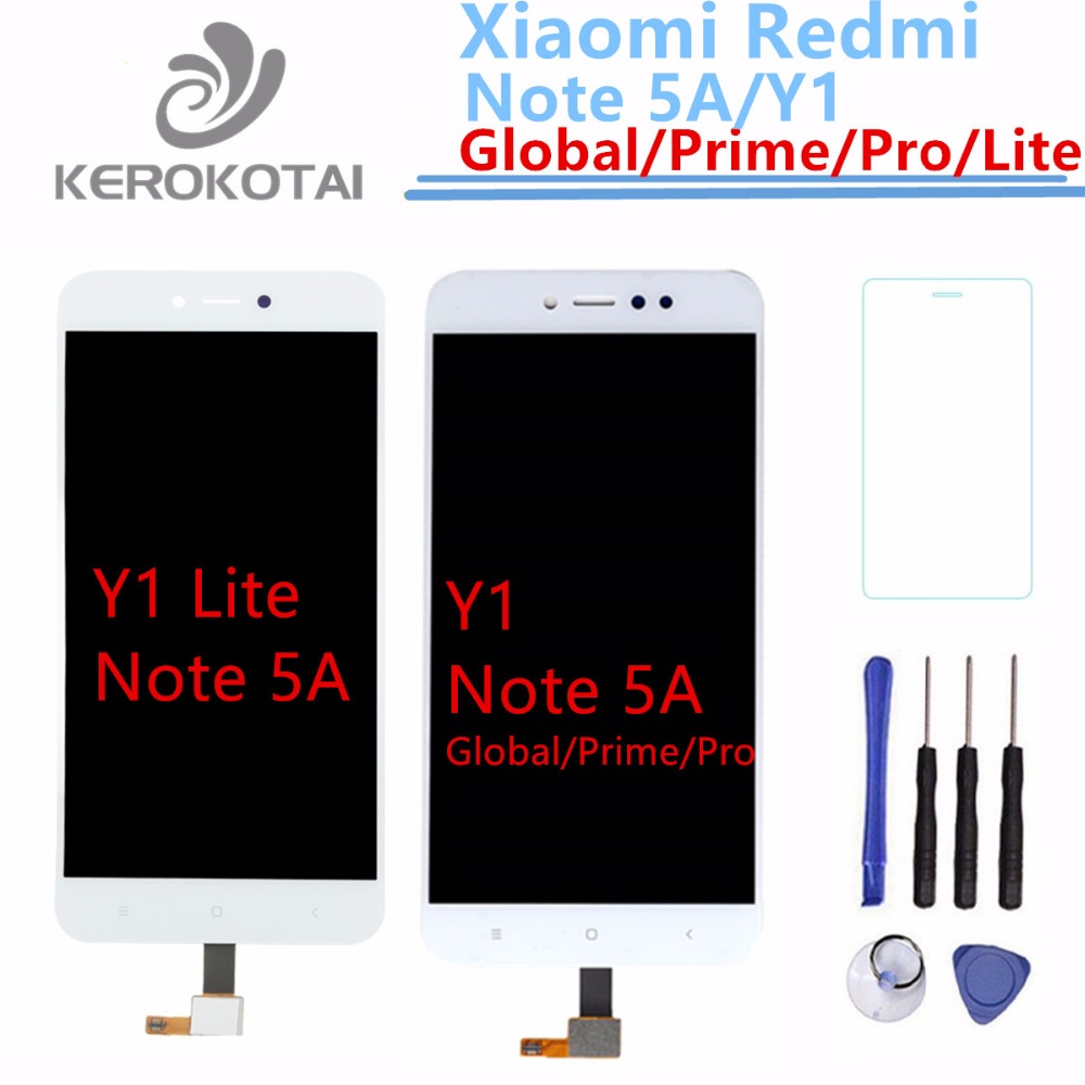 For Xiaomi Redmi Note 5A Global Prime Version LCD Display Screen Assembly Redmi Y1 Y1 Lite LCD Display Touch Screen Digitizer