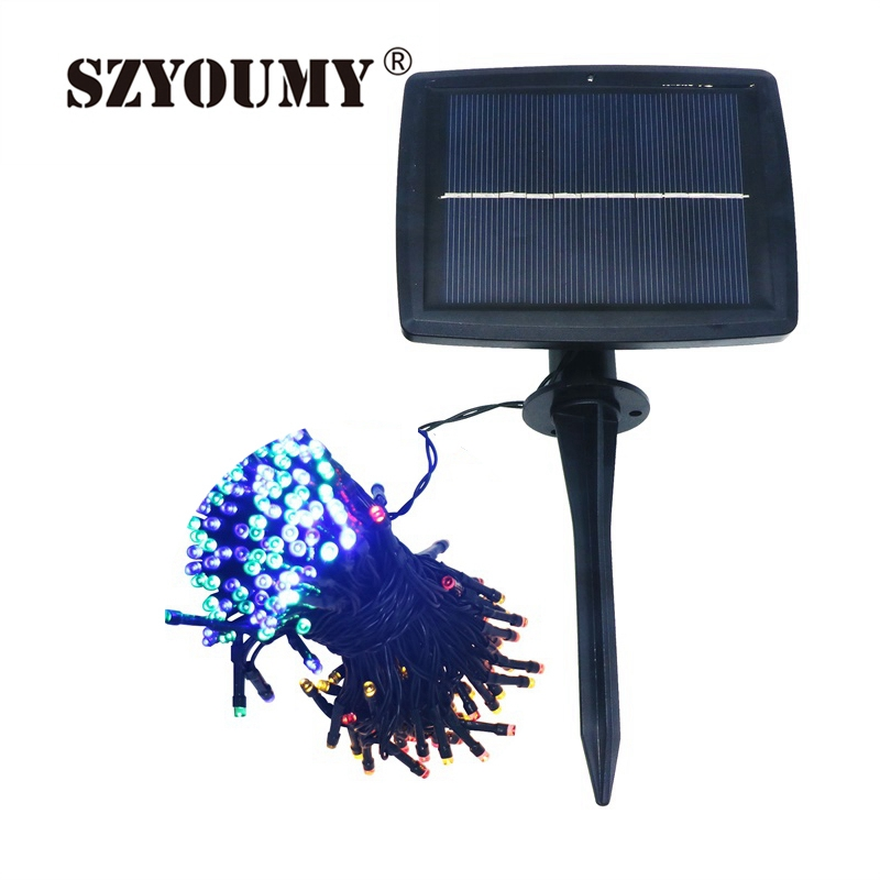Szyoumy Solar Powered String Light With 8 Mode Led String