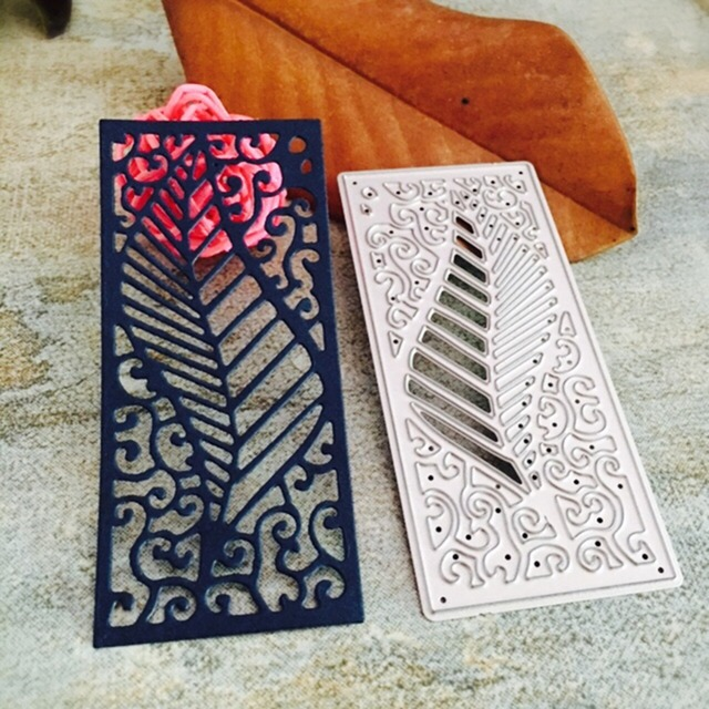 DIY hoja Marcos metal acero Relieves de papel Recortes de papel ...