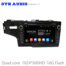 Android 5.1 Car DVD GPS for Honda fit 2014 2015 2016 with Quad Core 1024*600 Radio 3G Wifi Mirror-Link usb ipod dvd Free map