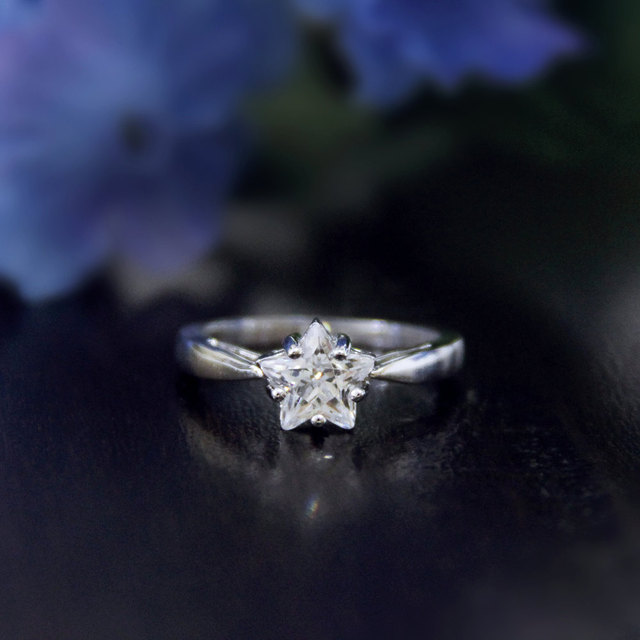 Ring For Women 1ctw Fancy Star Cut Lsimulated Diamond S925 Sterling