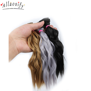 Allaosify BJD Hair Curly 25CM*100CM BJD WIG For Dolls Synthetic Wig Free shipping hair for dolls(China)