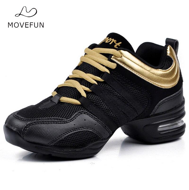 New Jazz Dance Shoes Donna Ladies Fitness Soft Outsole Breath - Scarpe da ginnastica