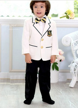 Free shipping/kids tuxedo suit Boys' Attire custom Notch Lapel white Kid Tailcoat Suits Boy's tuxedos Special Occasion Clothes