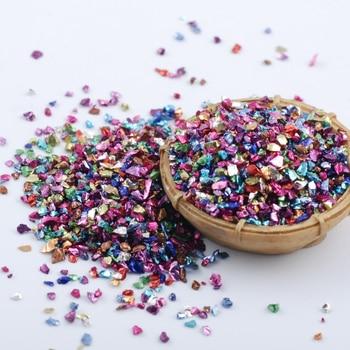 Wholesale prices 450g/Bag Broken Glass Rhinestones for Nails Gems 3D Mix Nail Art Rhinestone Decorations Stones 6