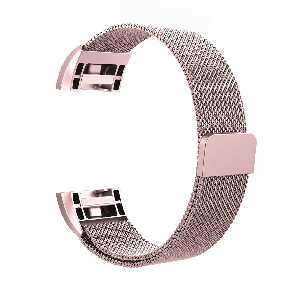 Magnetic Milanese Loop Watch bands Stainless Steel Smart watch Strap Wrist watch Band 18mm For  Fitbit Charge 2  Smart Watch crested stainless steel watch band for fitbit charge 2 bracelet smart watch strap for fitbit charge2 with connector