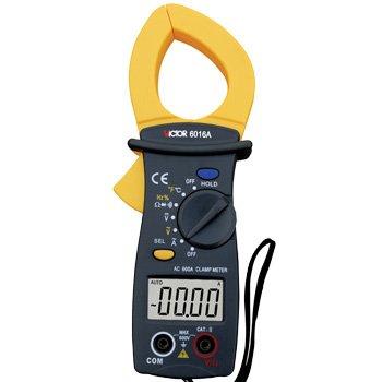 VICTOR  VC6016A 3 3/4 AC 600A Digital Clamp Meter w/Temperature victor 6056d digital clamp meter
