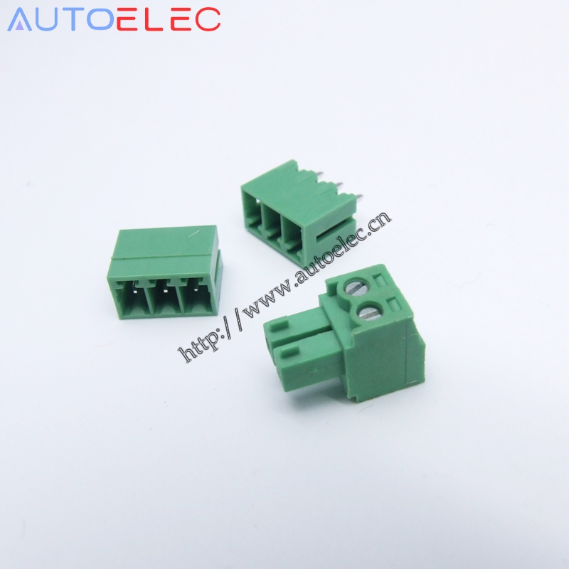 Sets Male And Female Poles Pitch Mm Pcb Terminal Blocks Connector Emcv Straight Pin on Terminal Block Connectors