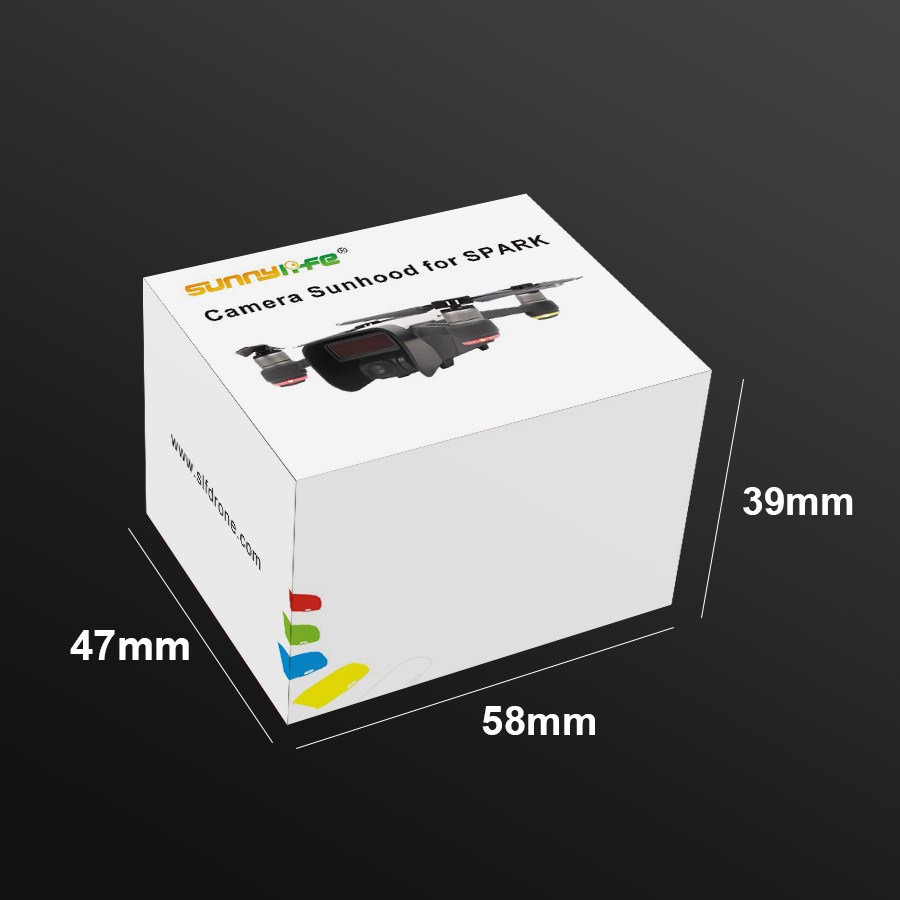 Sunnylife Camera Lens Hood Sunshade Cover Gimbal Cap Guard Protector for DJI Spark Grey F22950