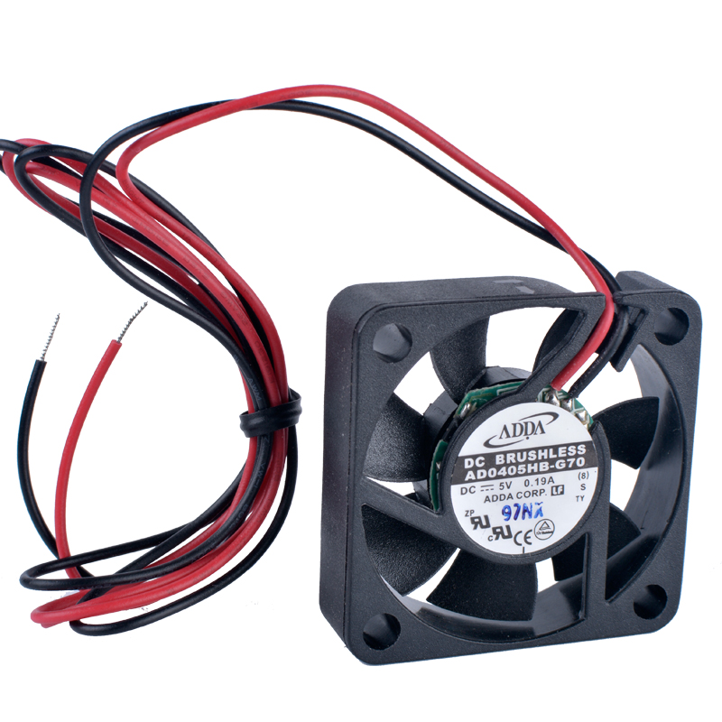 COOLING REVOLUTION AD0405HB-G70 <font><b>40mm</b></font> <font><b>fan</b></font> 4010 40x40x10mm <font><b>5V</b></font> <font><b>fan</b></font> 0.19A Double ball bearing large air volume <font><b>USB</b></font> <font><b>fan</b></font> image
