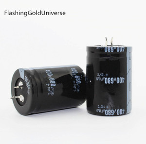 Image 1 - 20 sztuk 2 sztuk 680UF 400V 400V680UF kondensator elektrolityczny 35x50mm najlepsza jakość
