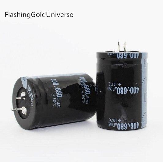 20PCS--2PCS Free Shipping  680UF 400V 400V  680UF 400V680UF Electrolytic Capacitor 35x50mm Best Quality